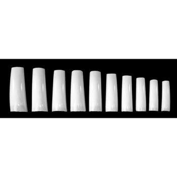 Типсы TNL изогнутые белые американский стиль (500 шт.)