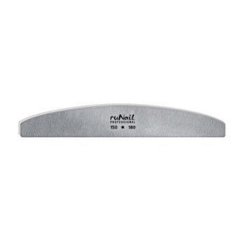 RuNail, 0566, Пилка (серая, полукруглая, 150/180)