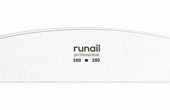 RuNail, 4685, Пилка (белая, полукруглая 200/200)