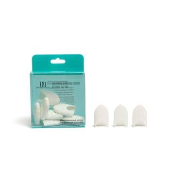 TNL, Силиконовые колпачки для снятия гель-лака (10 шт/упак) белые